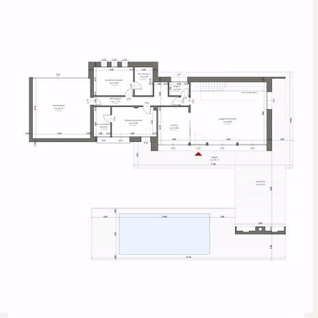 Perfect villa eurosia pianta quotata piano rialzato with for Piante case moderne